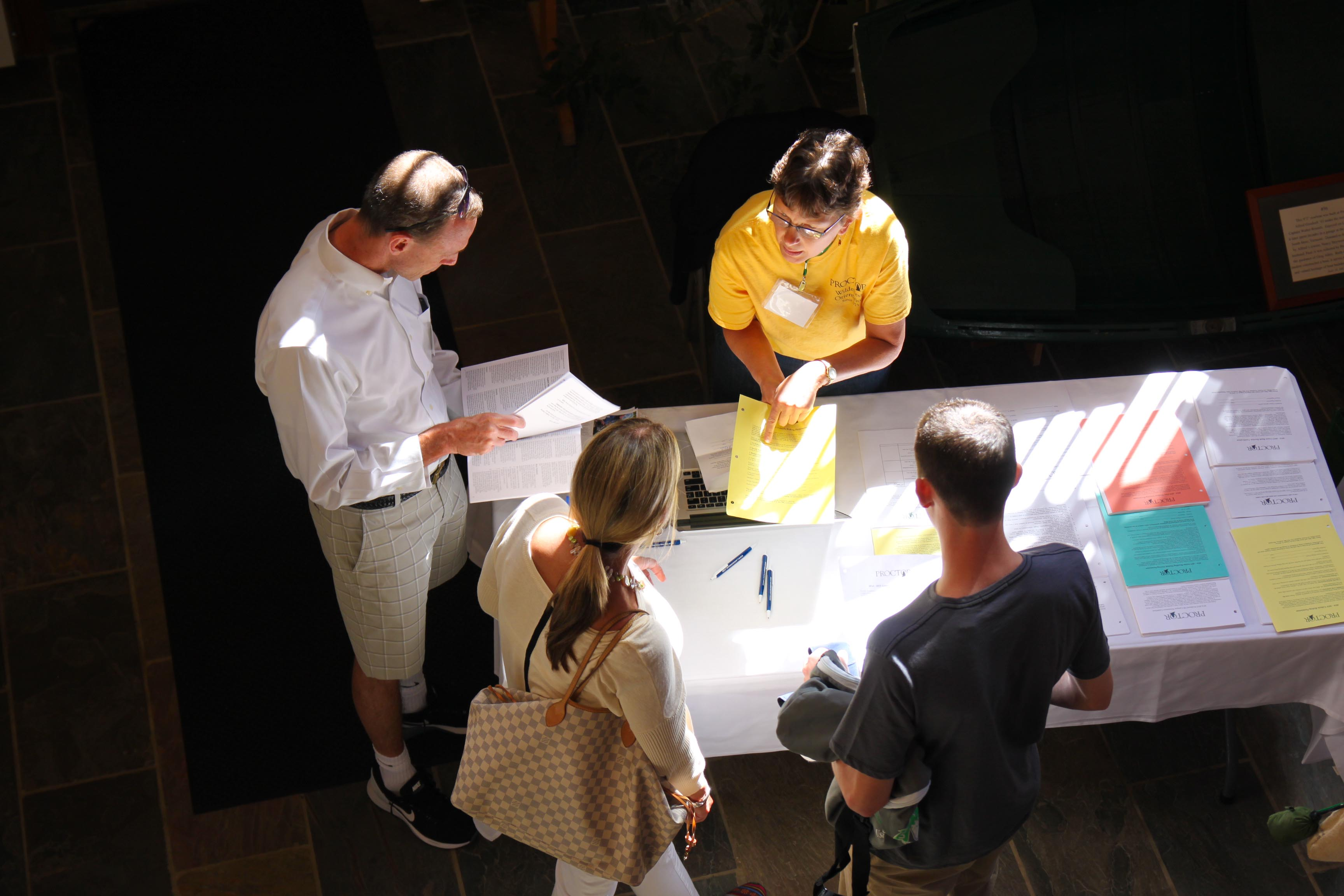 Proctor Academy Registration Day 2014