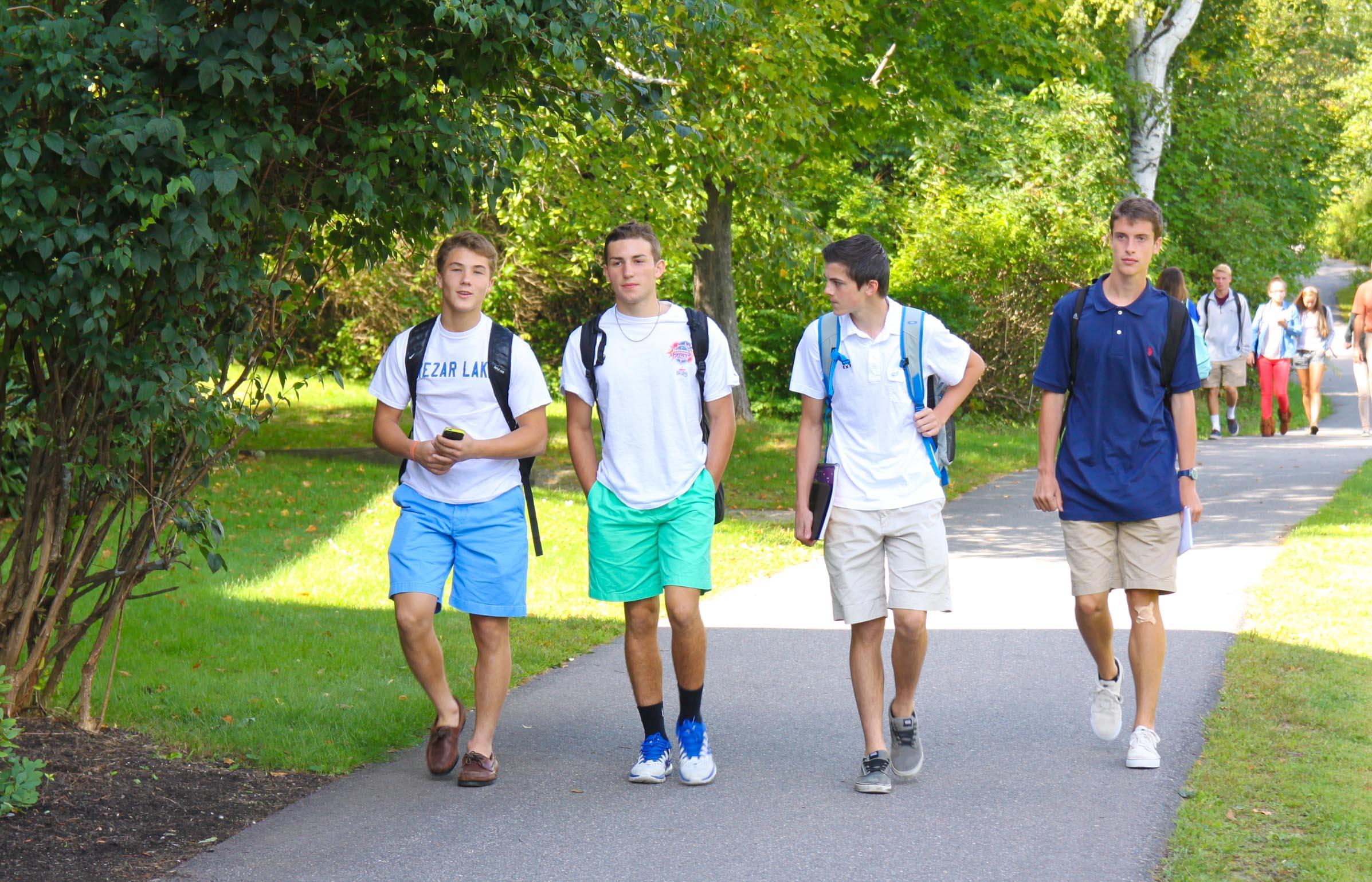 Proctor Academy in between classes