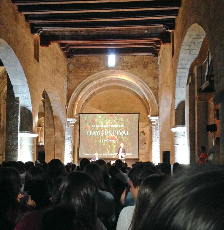 Proctor en Segovia visits Hay Festival celebrating literature, music, film and art