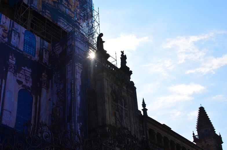 Proctor en Segovia experiential education visiting Cathedral of Santiago de Compostela