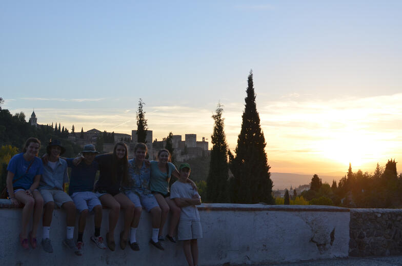 Experiential education exploring Granada on foot and admiring the Alhambra