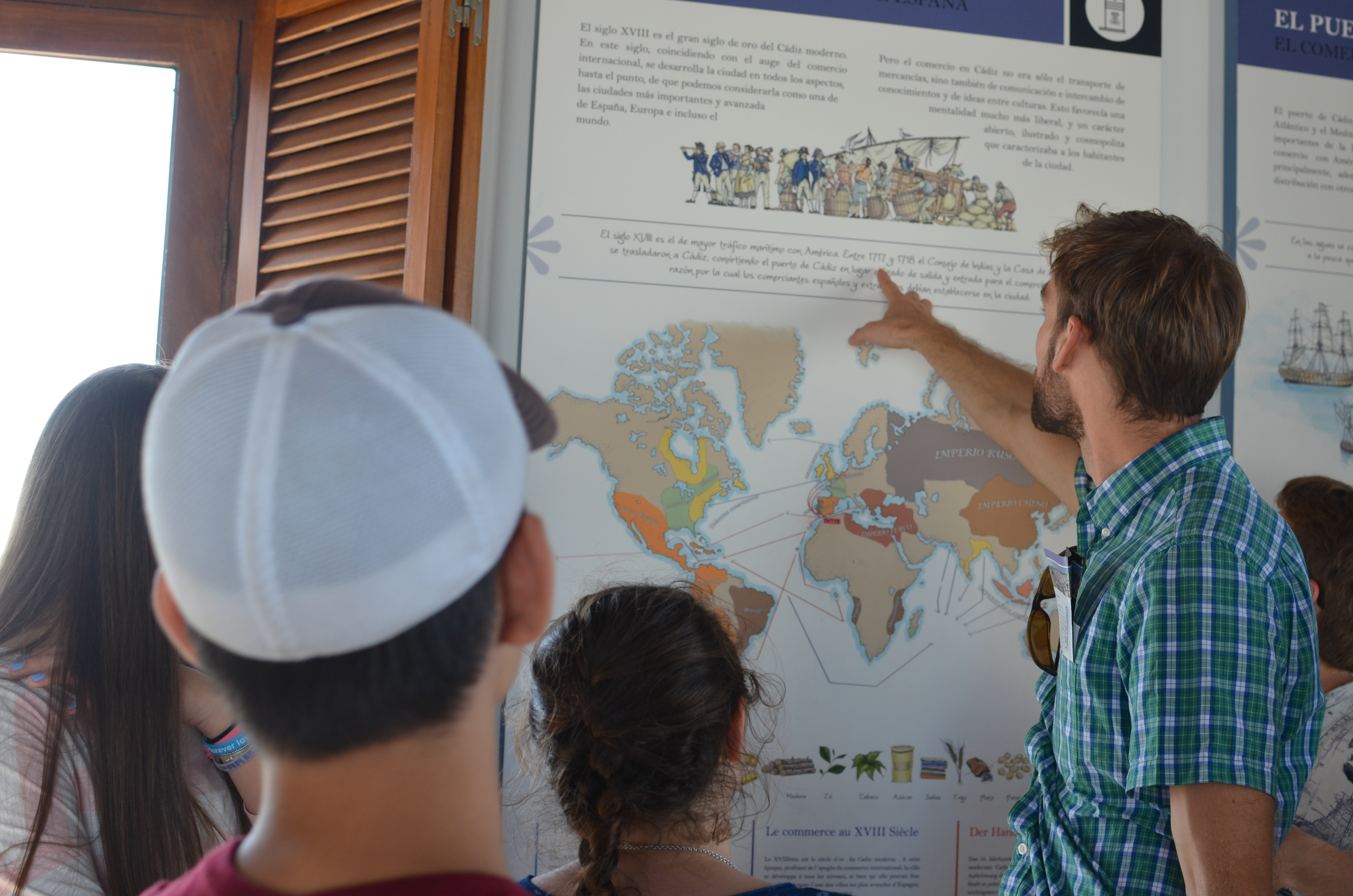 Experiential education learning about Americas trade in Cádiz