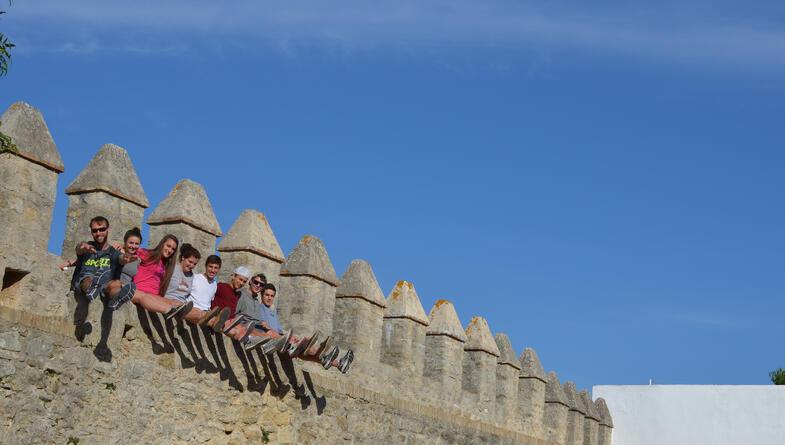 Experiential education Proctor en Segovia students explore the medieval streets of Vejer de la Frontera