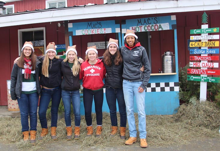 Proctor Academy girls basketball community service