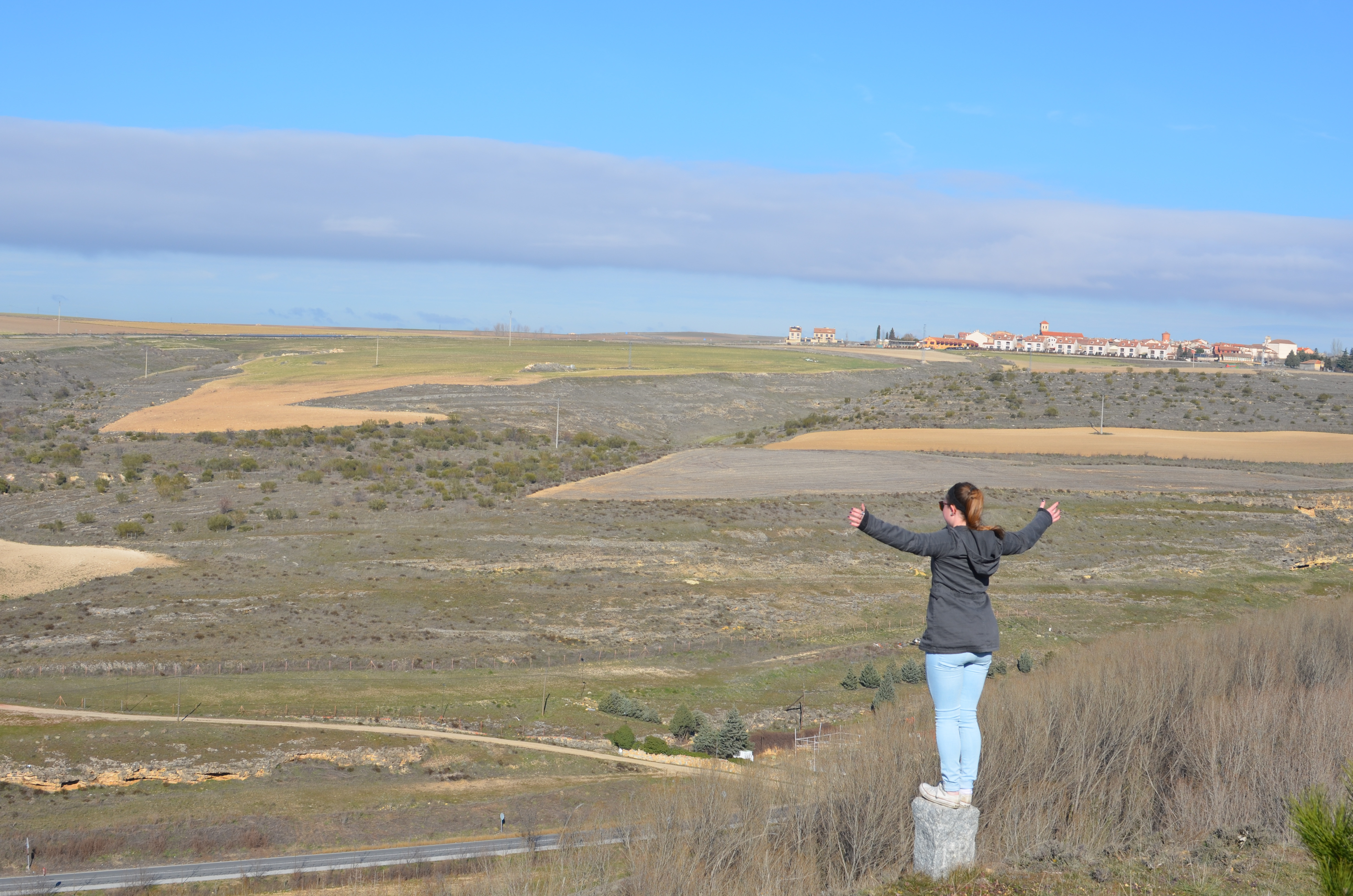 Proctor en Segovia gazes out at the meseta