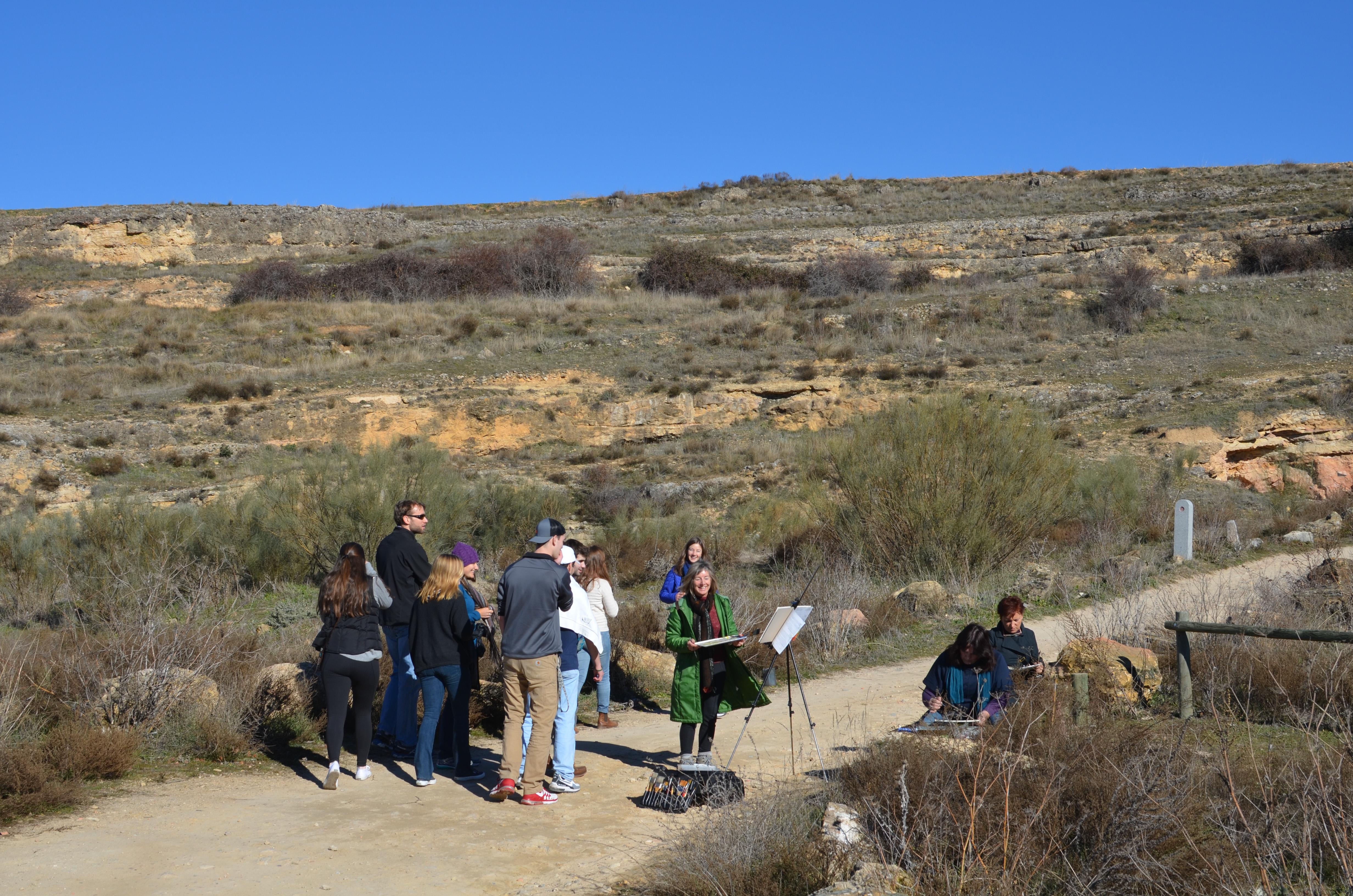 Proctor en Segovia admires local artists