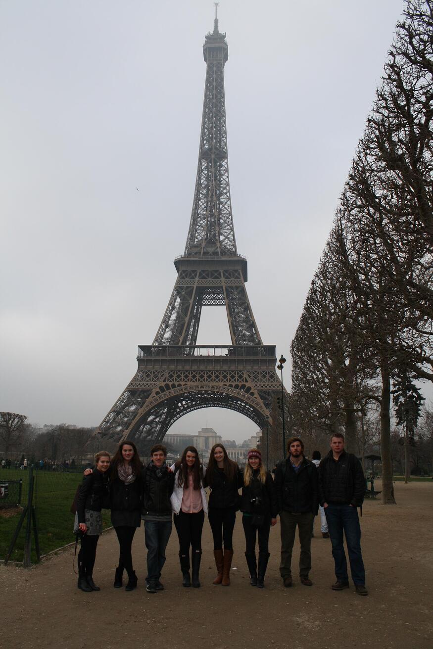 eiffel tower european art classroom proctor academy new hampshire aix en provence france