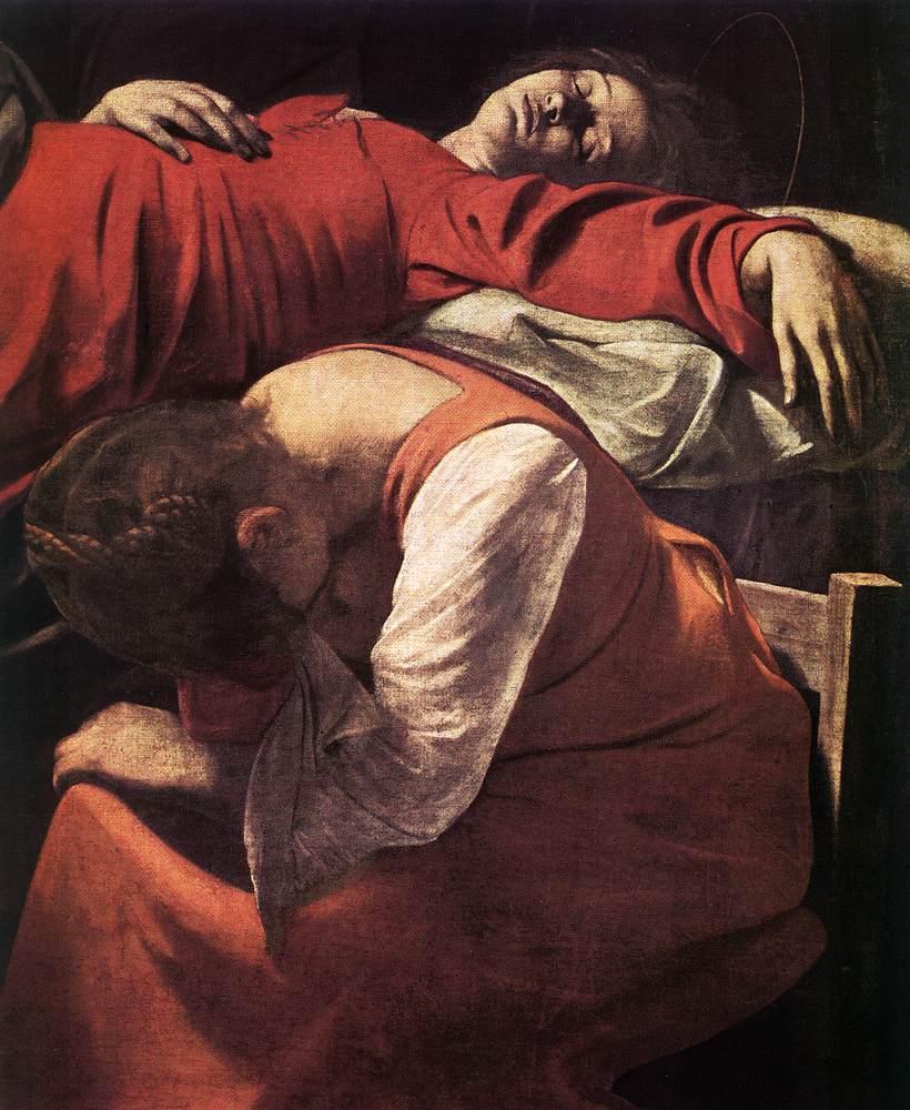 Caravaggio-The_Death_of_the_Virgin_detail european art classroom proctor academy new hampshire aix en provence france