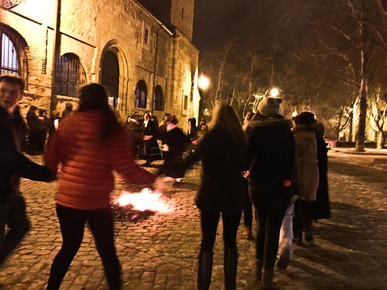 Proctor en Segovia students participate in Segovian festival Santa Águeda