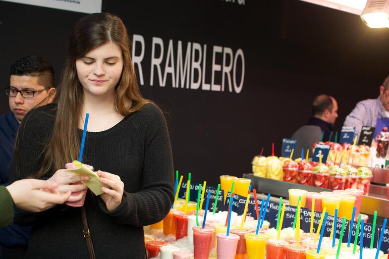 Proctor en Segovia visits La Boqueria market on Las Ramblas