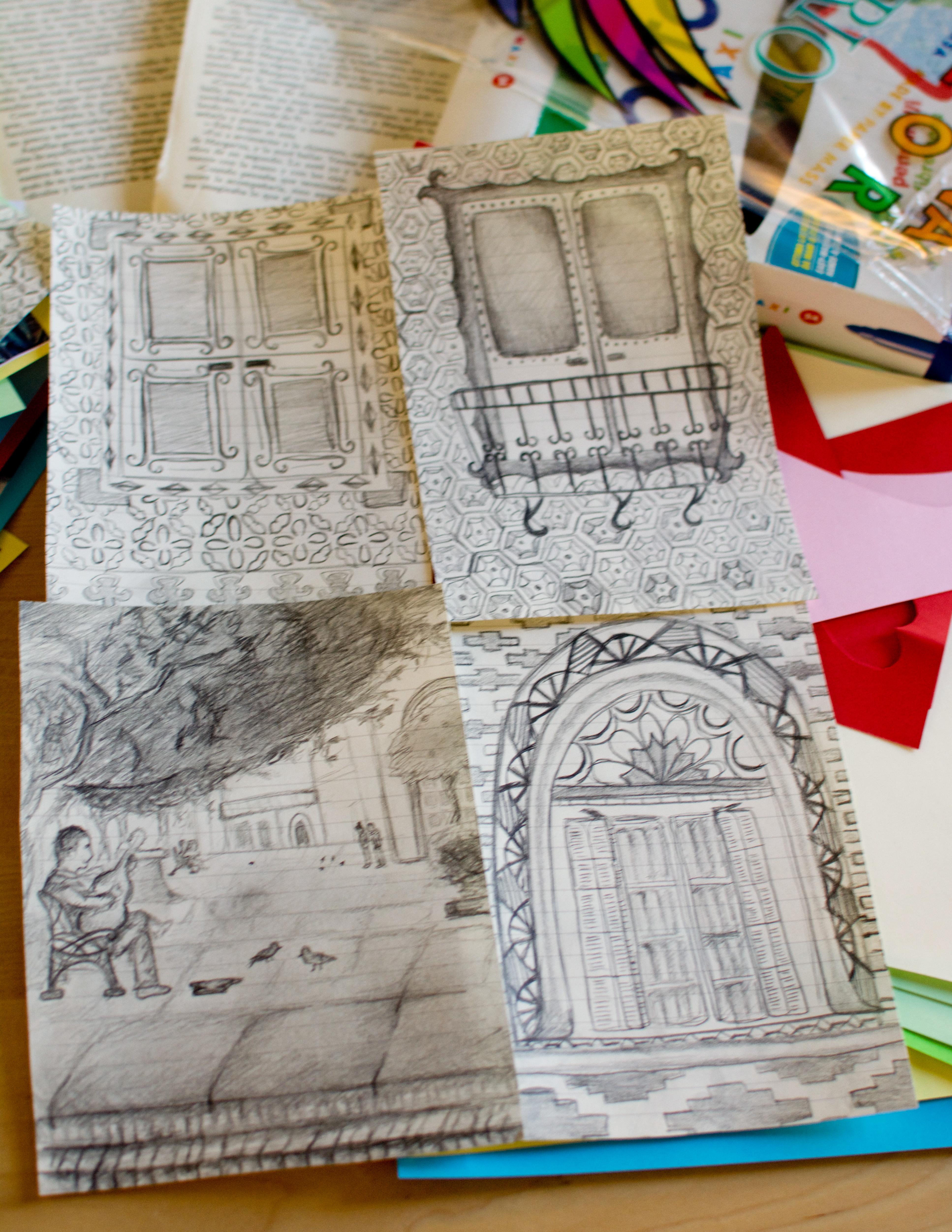 Proctor en Segovia student sketches