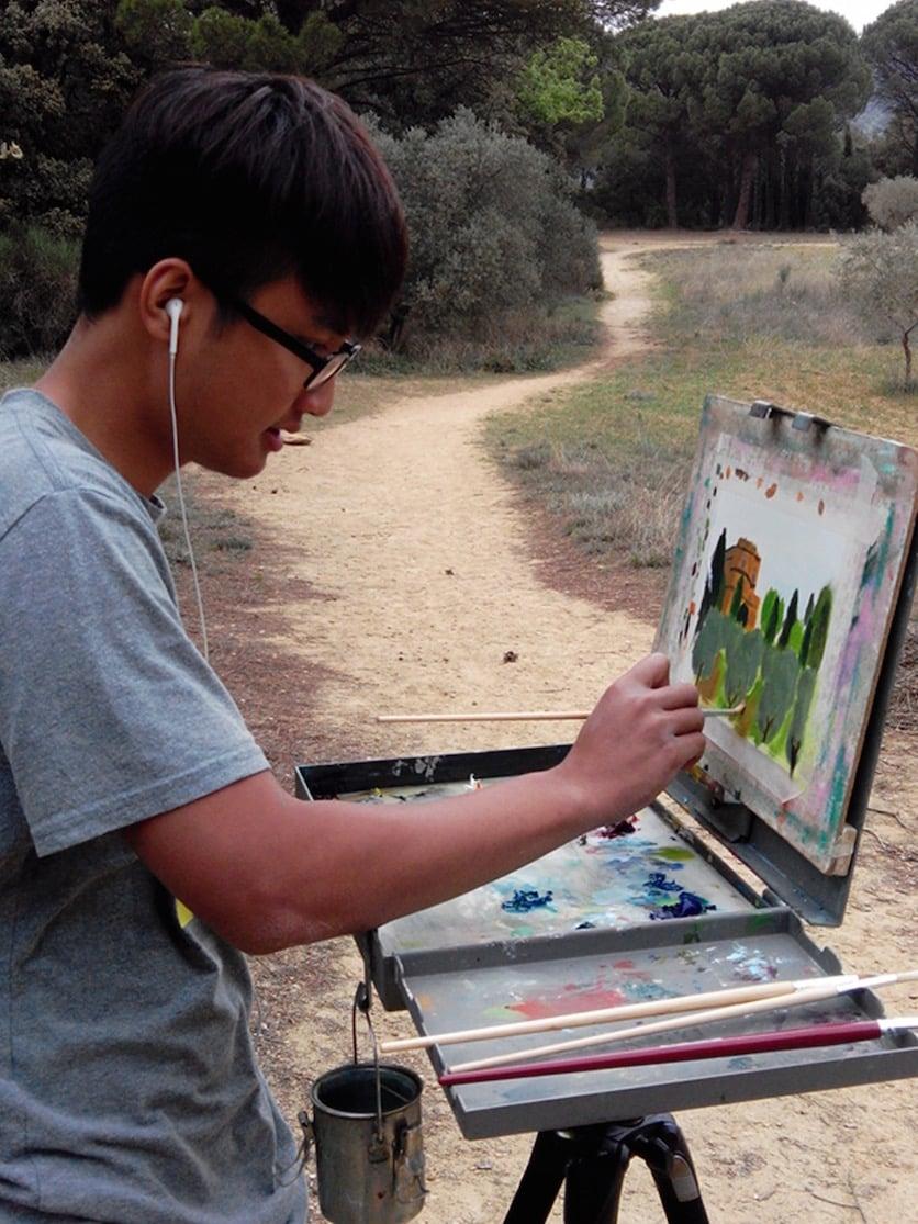 European Art Classroom Proctor Academy Off-Campus program