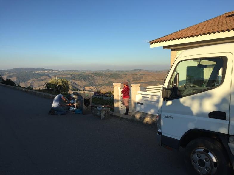 Proctor en Segovia visits Portugal's Alto Douro