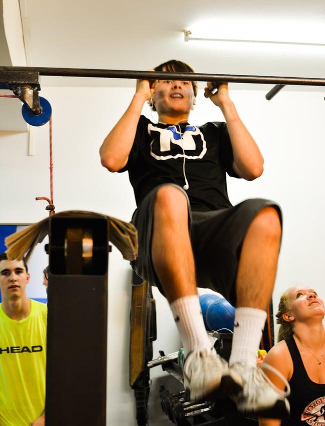 Proctor en Segovia at the gym