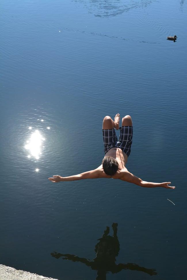 Proctor en Segovia taking the plunge