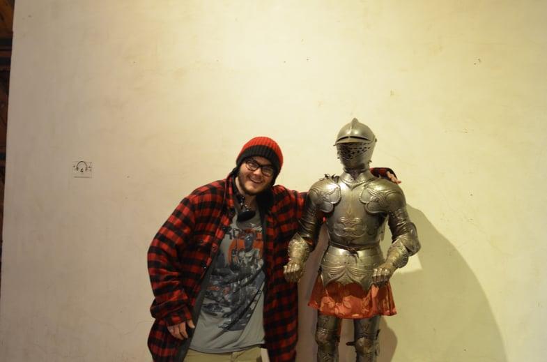 Proctor en Segovia visits Segovia's castle