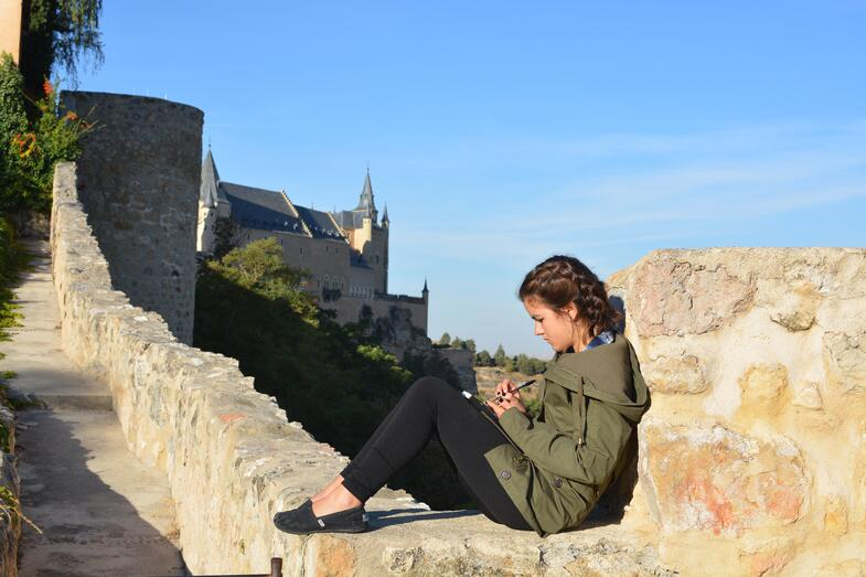 Proctor en Segovia creative nonfiction writing in Segovia park