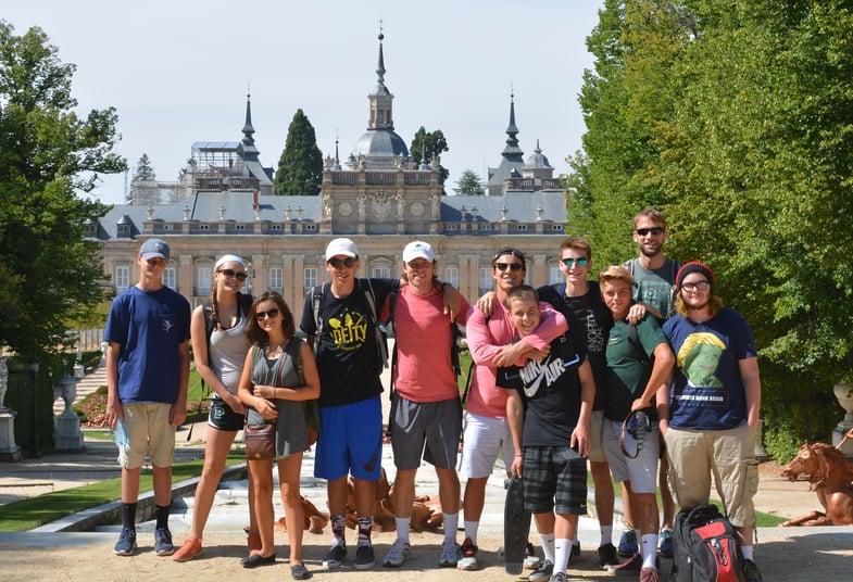 Proctor en Segovia history lesson at La Granja palace