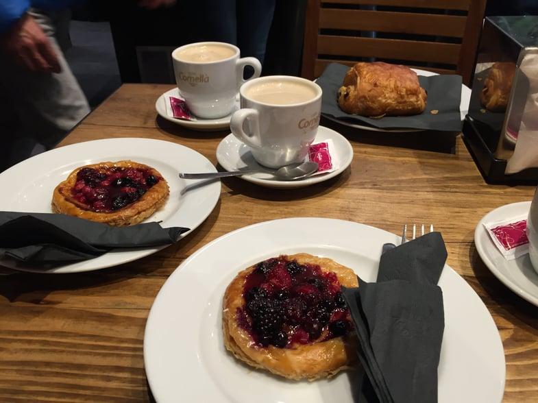 Delicious pastries at a Barcelona café