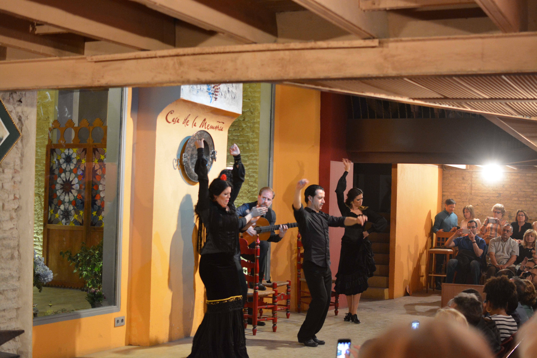 Proctor en Segovia watches a Flamenco performance in Sevilla