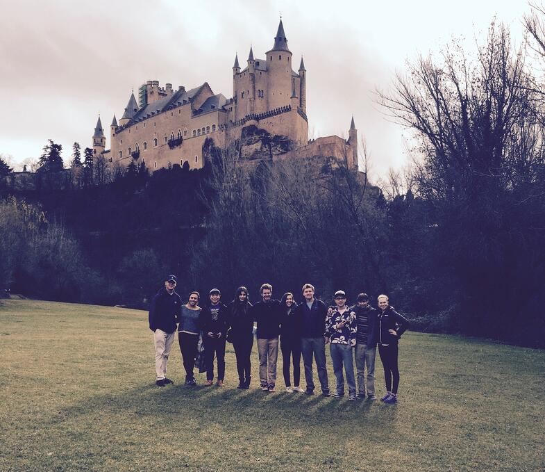 Proctor en Segovia with the Alcázar in the background