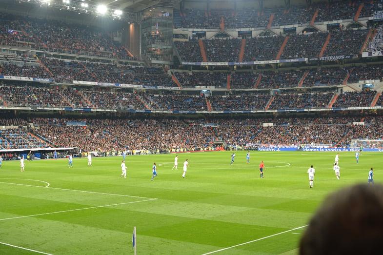 Proctor en Segovia at a Real Madrid match