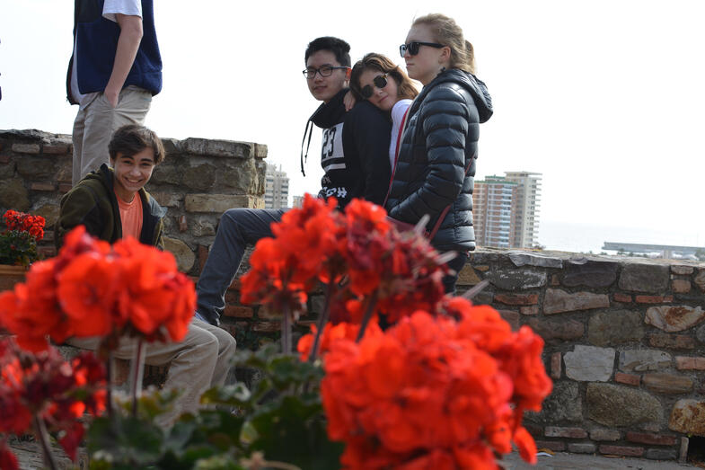 Proctor en Segovia visits Málaga's Alcazaba