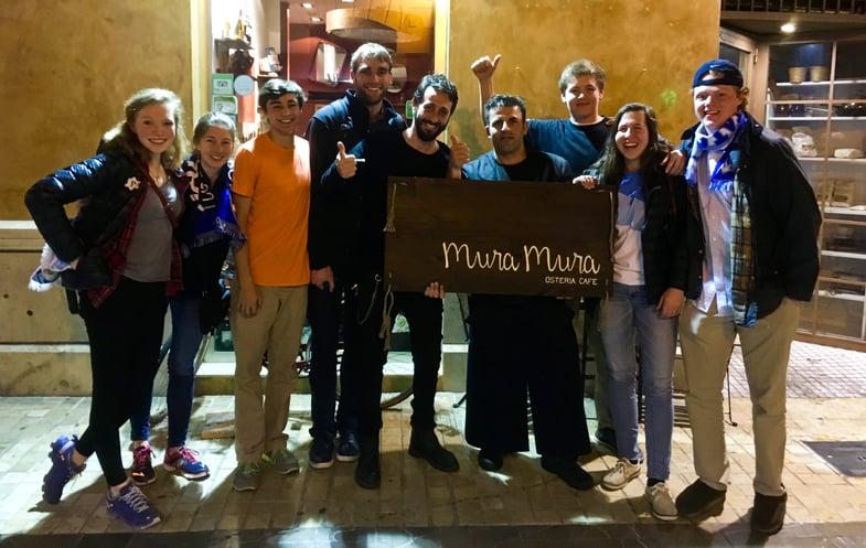 Proctor en Segovia eats excellent Italian food in Málaga
