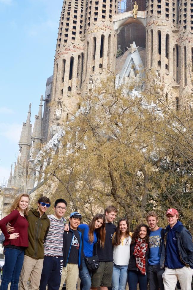 Proctor en Segovia visits Gaudí's Sagrada Familia in Barcelona