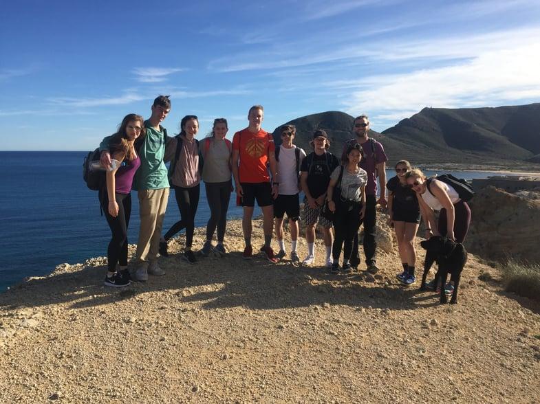 Proctor en Segovia hikes in Cabo de Gata Natural Park