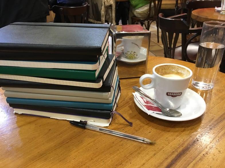 Proctor en Segovia English class in a café!
