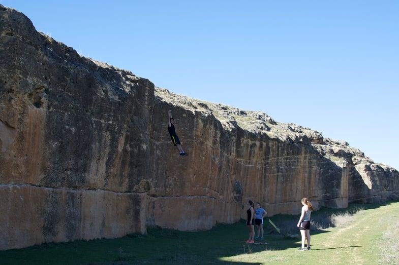 Proctor en Segovia at Segovia's climbing wall