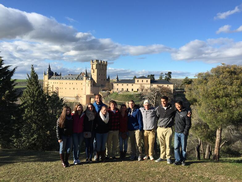 Proctor en Segovia with Segovia's castle in the background