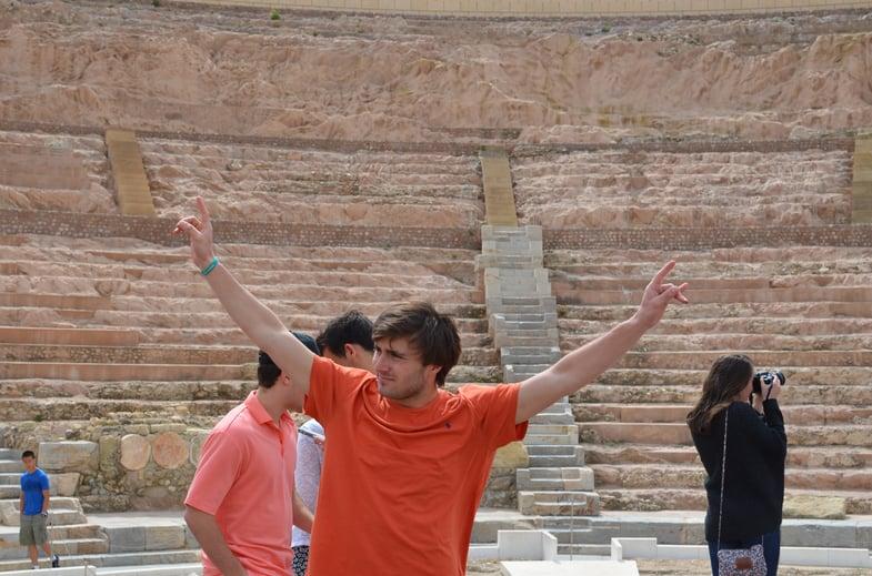 Proctor en Segovia in Cartagena's Roman theater