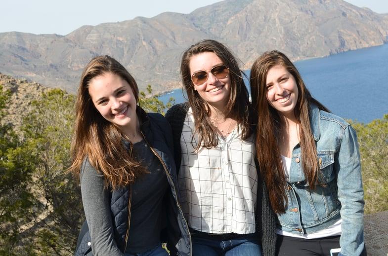 Proctor en Segovia students explore a fortification near Cartagena