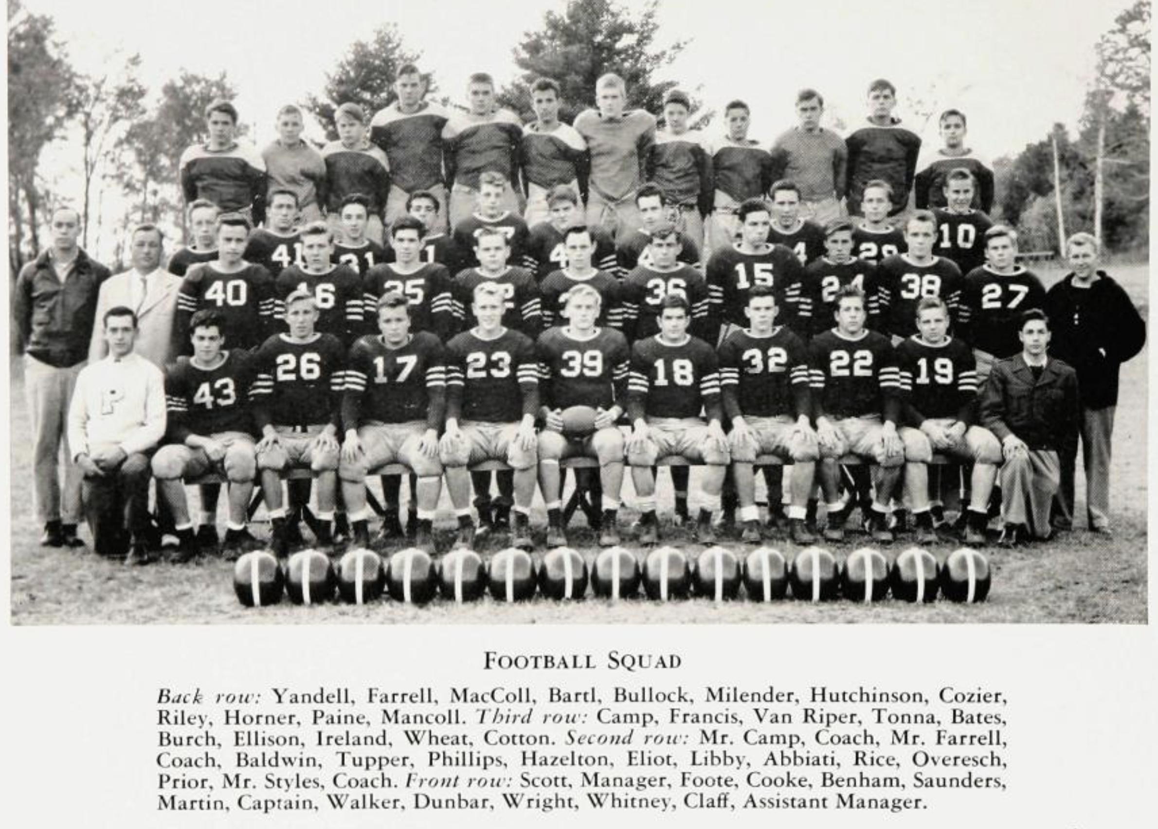 Proctor Academy Alumni Walter Wright' 49