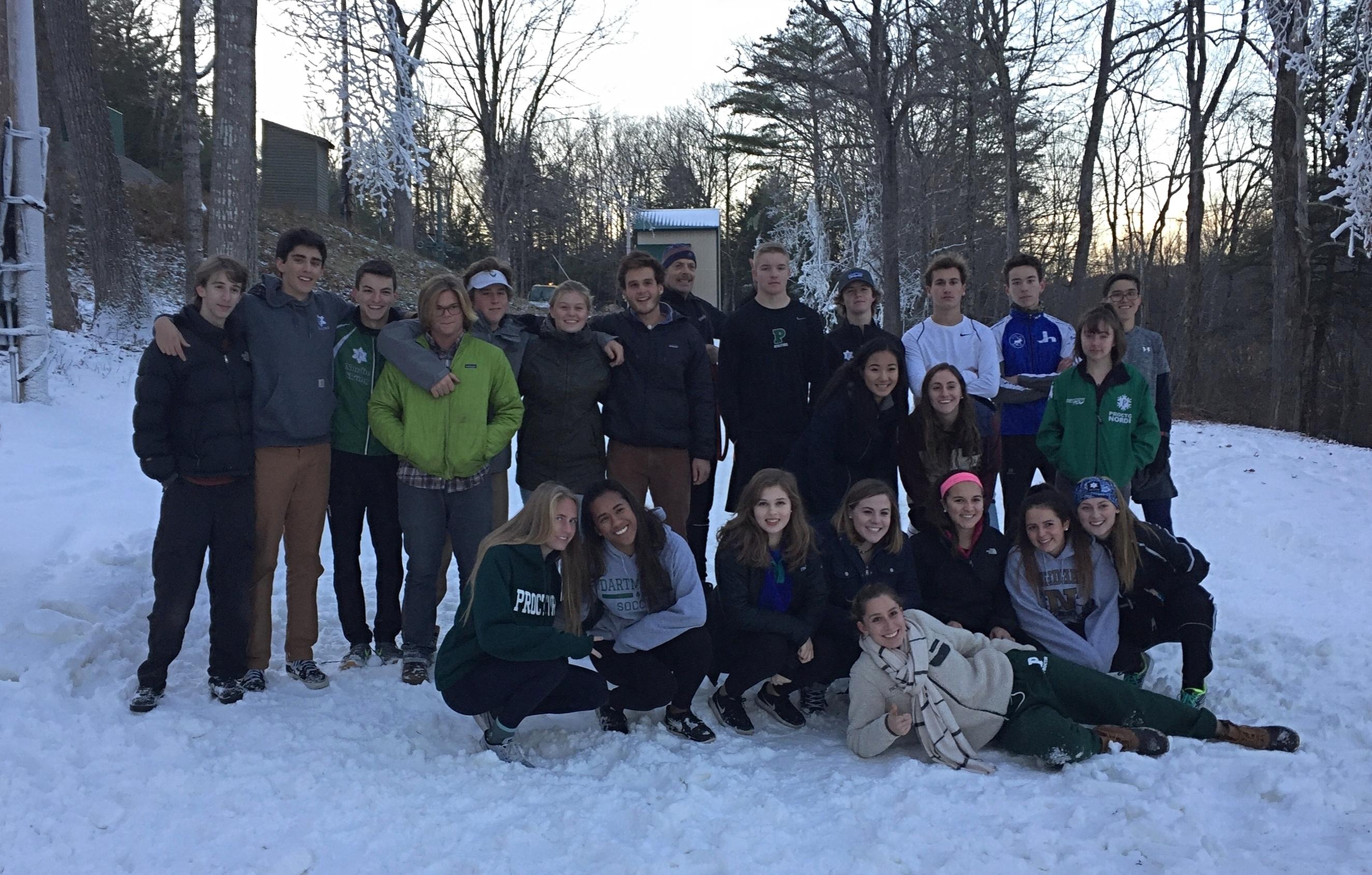 Proctor Academy on snow nordic ski program