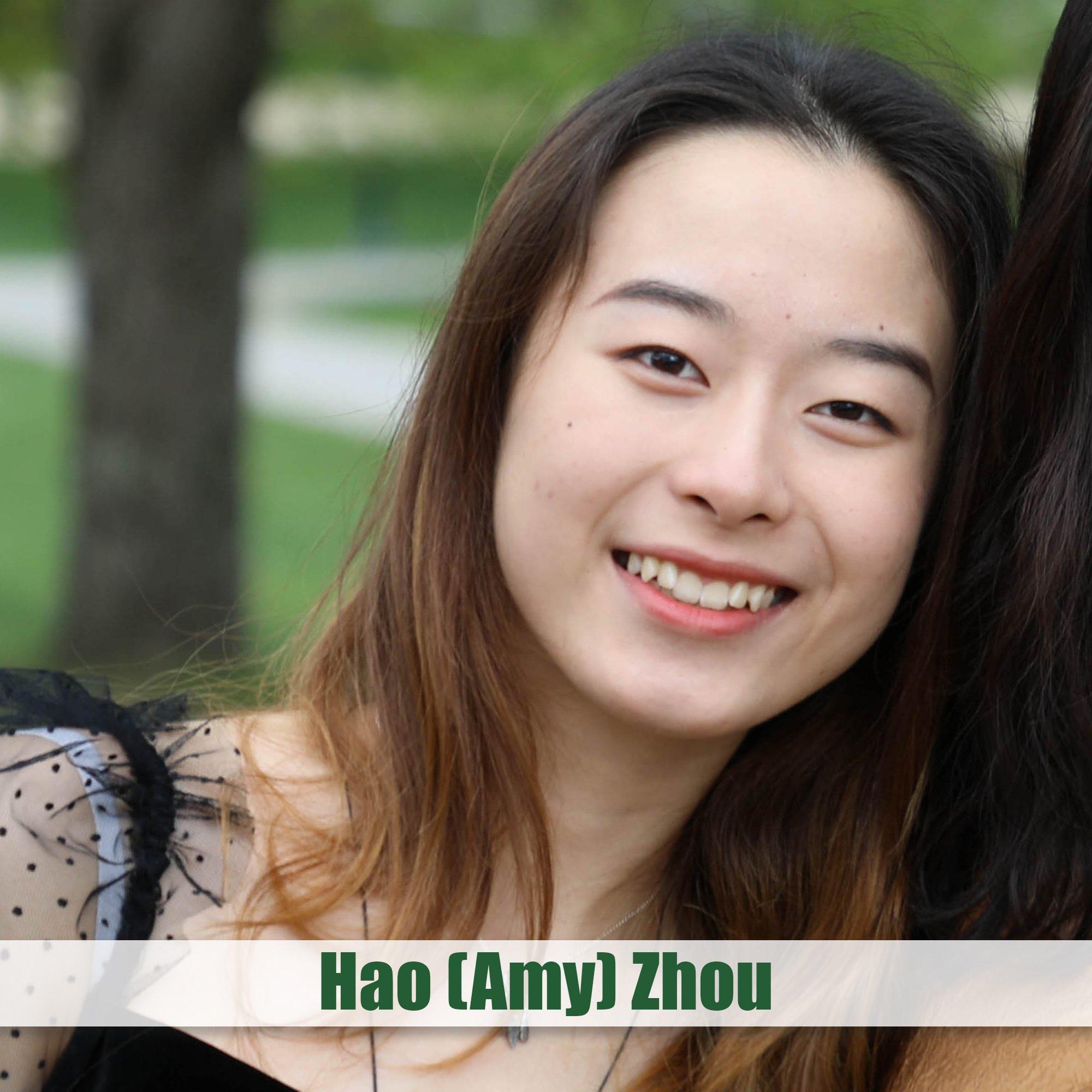 Charles Levy Award (Valedictorian) - Hao Amy Zhou