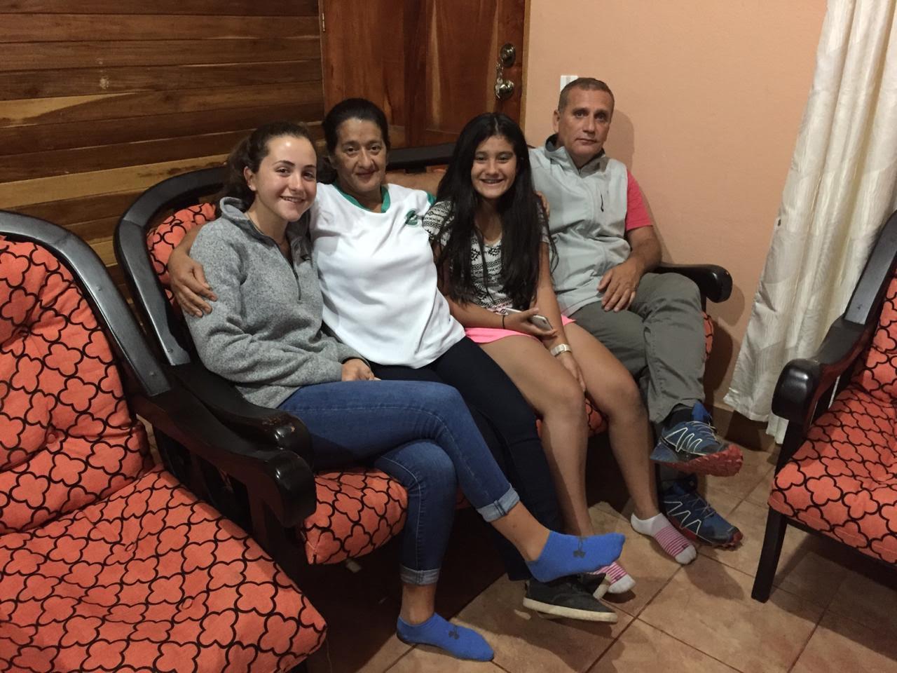 Olivia y su familia