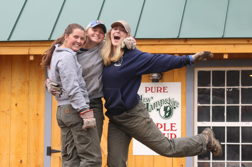 Proctor Academy woods team