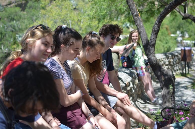 Proctor en Segovia students visit a museum that explores Romani culture.