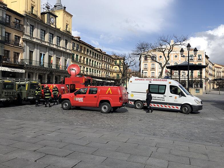 Proctor es Segovia Plaza Mayor COVID-19