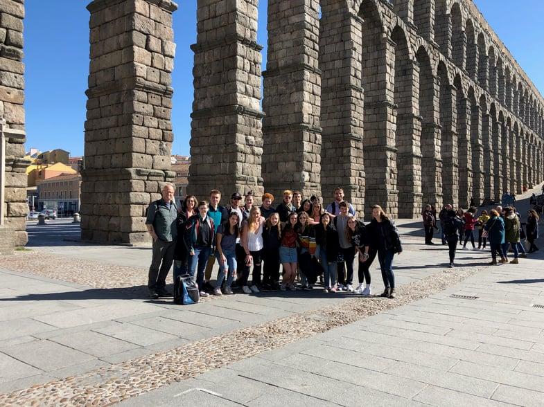 IMG_6407 European Art Classroom visits Proctor en Segovia in Segovia!
