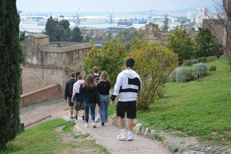 Proctor en Segovia visits the Alcazaba of Malaga