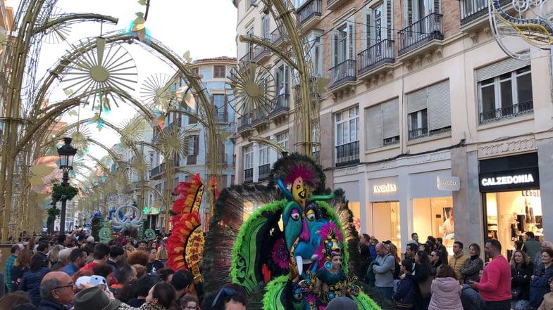 Proctor en Segovia witnesses Carnaval in Malaga