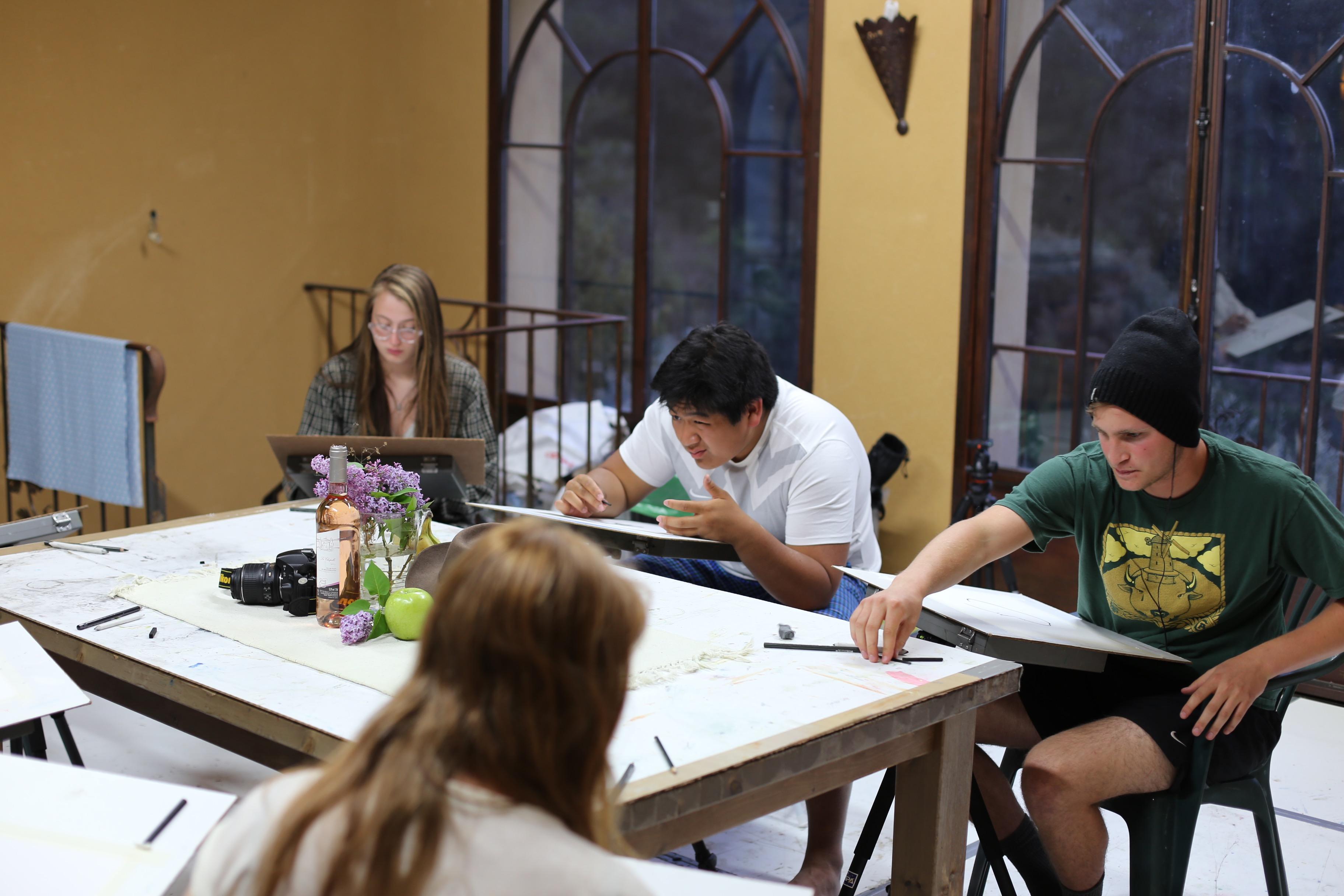 european art classroom aix en provence france proctor academy