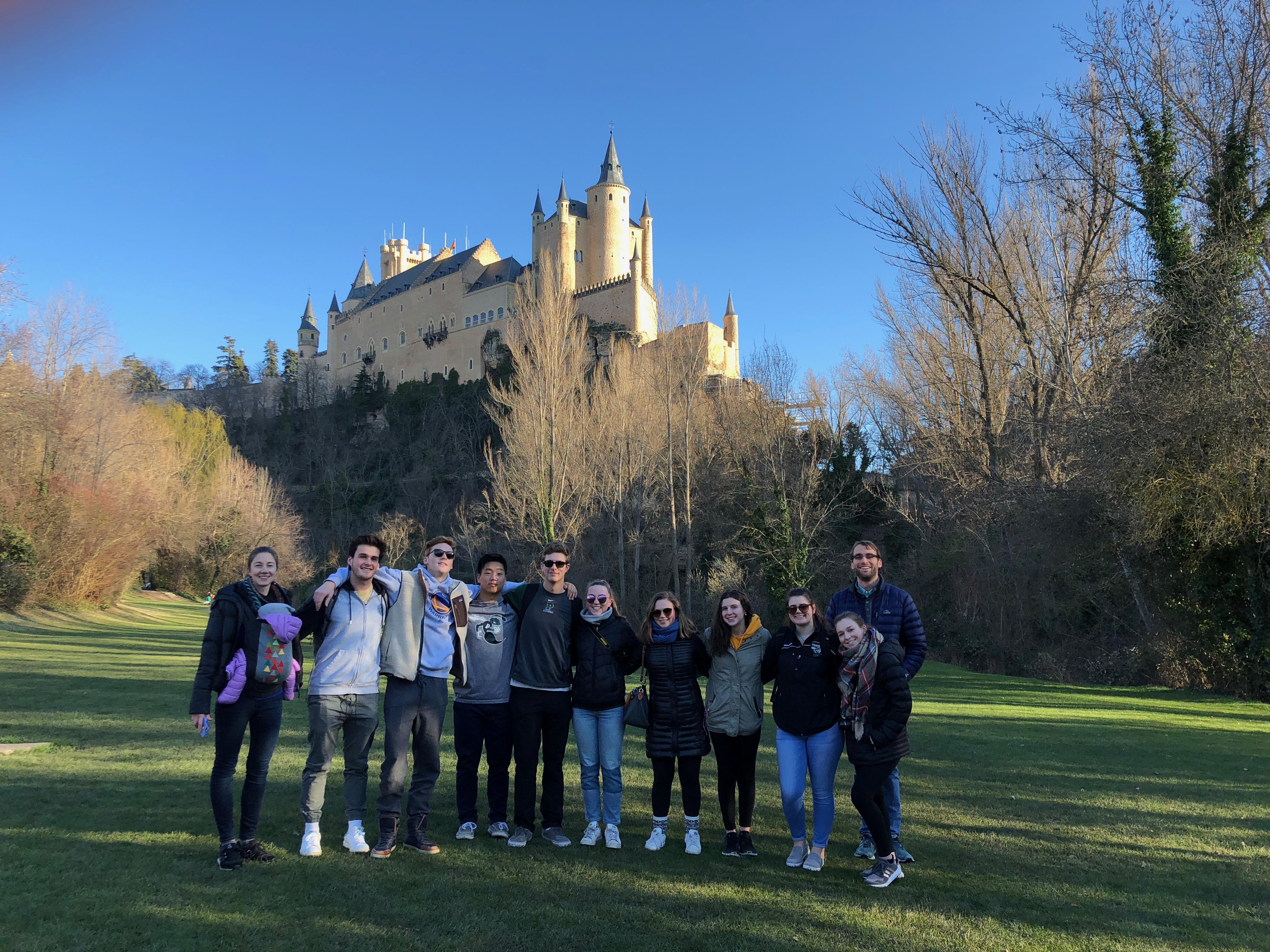 Proctor en Segovia below Segovia's castle or Alcáz