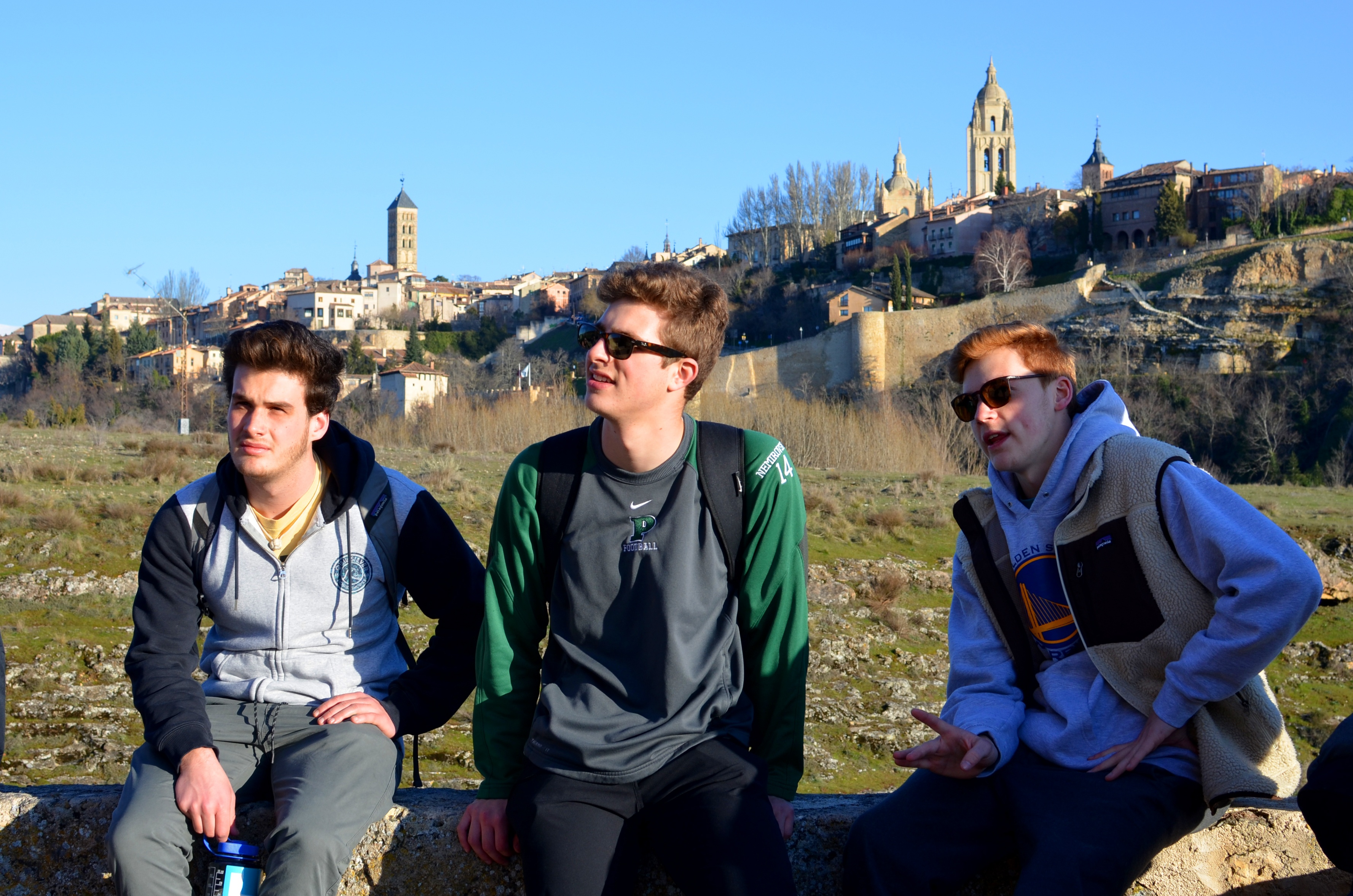 Proctor en Segovia discusses the layers of history of Segovia