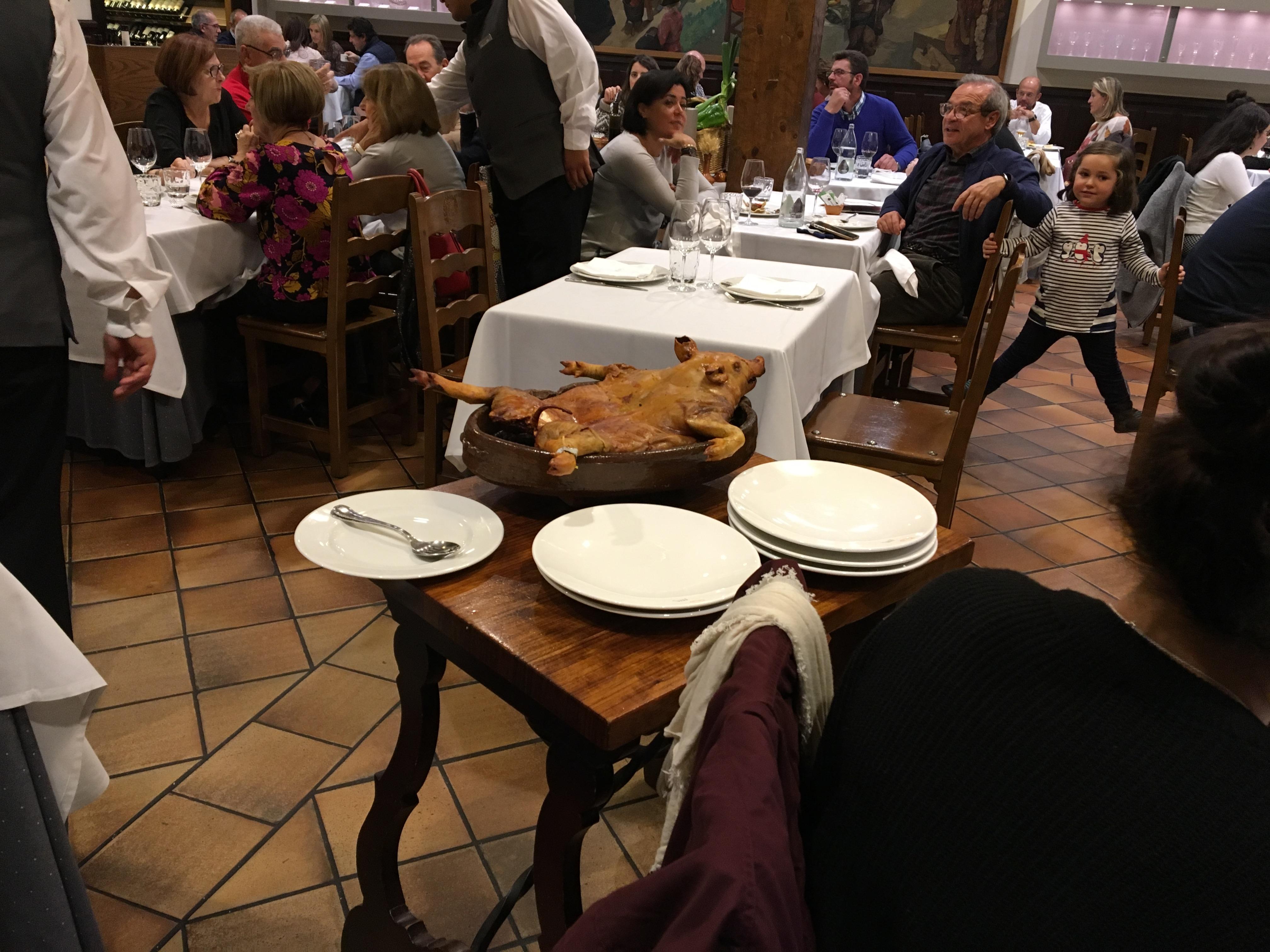 Proctor en Segovia final group dinner
