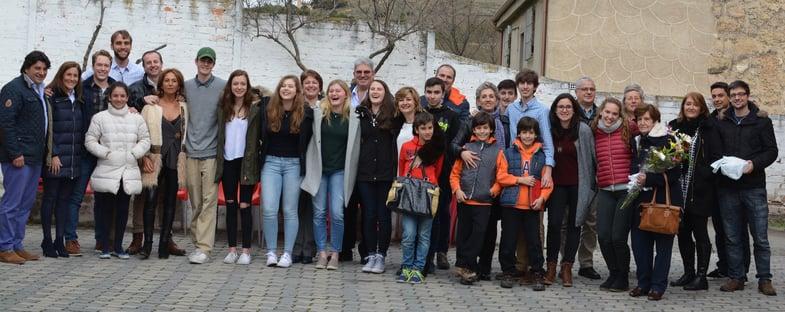 Proctor en Segovia final host family lunch